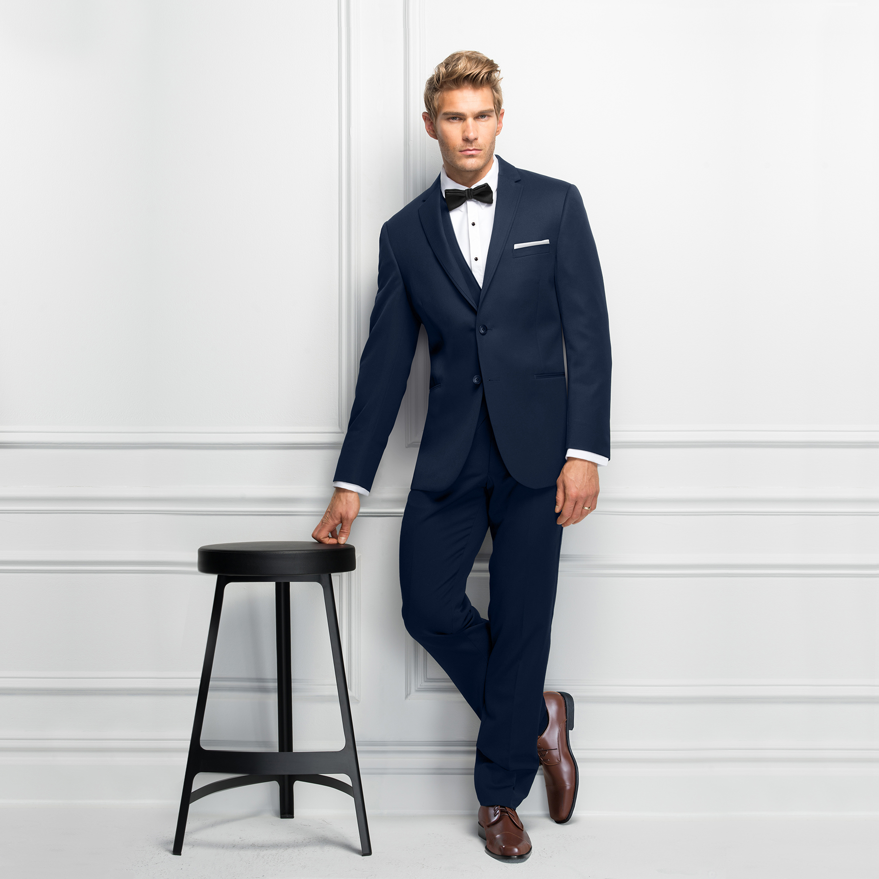 Michael Kors Ultra Slim Navy Sterling   Bridal and Formalwear by Jakdrs